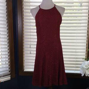 Altar'd State Maroon Lace Dress Size Medium